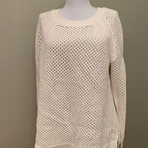 Old Navy Off-White Chunky Mesh Knit Sweater (XL)